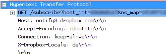 Dropbox HTTP Request Example