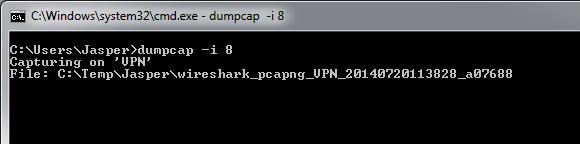 dumpcapPathStatus