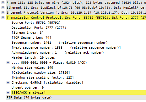 Wireshark-Packetdetails