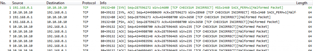 Hard Slicing TCP Sequence Tracking